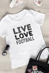 Футболка женская Live love football