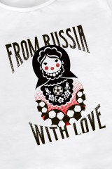 Футболка женская From Russia with love