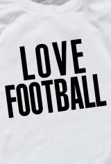 Футболка мужская I love football