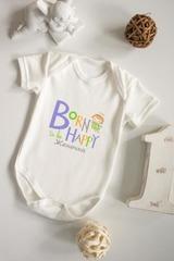 Боди для малыша с вашим текстом Born to be happy