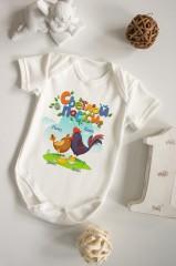 Боди для малыша с вашим текстом «Пасхальные цыплята»