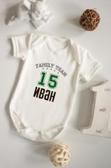 Боди для малыша с вашим текстом Family team
