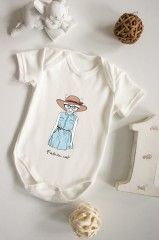 Боди для малыша с вашим текстом «Модница»