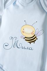 Боди для малыша с вашим текстом Пчелка
