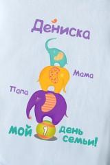 Боди для малыша с Вашим текстом Слоники