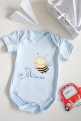 Боди для малыша с вашим текстом «Пчелка»