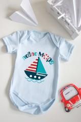 Боди для малыша с вашим текстом Люблю море