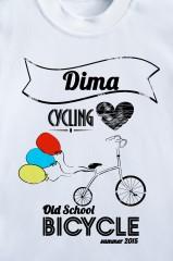 Футболка детская с вашим текстом Bicycle