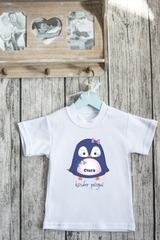 Футболка детская с вашим текстом «Пингвиненок»