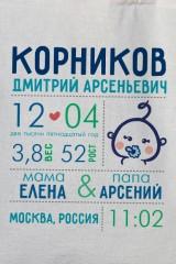 Сумка с Вашим текстом Первая визитная карточка