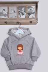 Толстовка  детская с Вашим текстом Маленькая модница