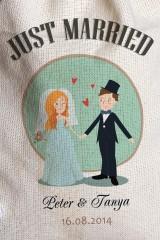 Мешочек большой с Вашим текстом Just Married