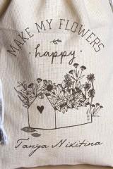 Мешочек с Вашим текстом Happy flowers