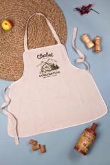 Фартук кухонный с нанесением текста Chalet