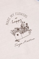 Фартук кухонный с нанесением текста Happy flowers