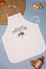 Фартук кухонный с нанесением текста Лучшая елка