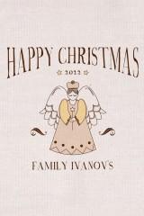 Фартук кухонный с нанесением текста Рождественский ангел