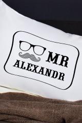 Наволочки с Вашим текстом Mr & Mrs Hipster