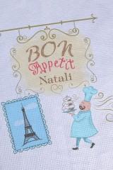 Полотенце с Вашим текстом Bon appetit