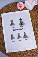 Полотенце с Вашим текстом Cемья ждунов