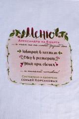 Полотенце с Вашим текстом Меню