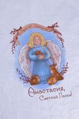 Полотенце с Вашим текстом Ангел с кроликом