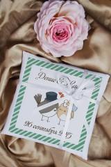Свадебная подушечка для колец с Вашими именами Пернатая любовь