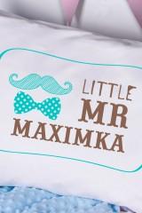 Наволочка с Вашим текстом Little Mr & Mrs