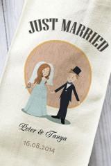 Сумка для шампанского с Вашим текстом Just Married