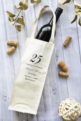 Сумка для шампанского с Вашим текстом На годовщину