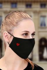 Маска защитная для лица с вышивкой Сердце
