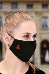 Маска защитная для лица с вышивкой Пламя