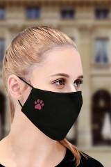 Маска защитная для лица с вышивкой Лапка