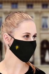 Маска защитная для лица с вышивкой Лампочка
