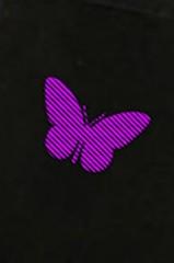 Маска защитная для лица с вышивкой Бабочка
