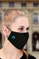 Маска защитная для лица с вышивкой Облако