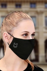 Маска защитная для лица с вышивкой Кролик