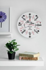 Часы настенные с Вашим текстом Happy hours