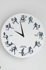 Часы настенные с Вашим текстом Football fan