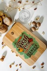 Доска разделочная с вашим текстом Fresh Food