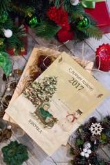 Леденцы в ящике с Вашим текстом «Рождество»