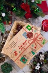 Леденцы в ящике с Вашим текстом Посылка от Деда Мороза
