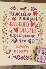 Набор сладостей с Вашим текстом Женское счастье