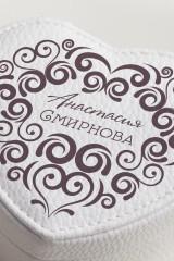 Шкатулка для ювелирных украшений с вашим текстом Кружевная