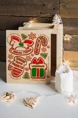 Ящик почтовый новогодний с Вашим именем Имбирное печенье