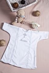 Крестильная рубашка для малыша с именной вышивкой На крещение