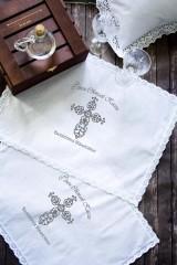 Салфетка с именной вышивкой Ажурный крест