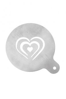 Трафарет для капучино «Сердечки»