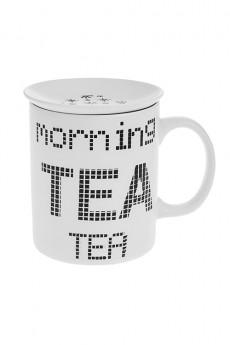 Кружка с крышкой «Утренний чай»