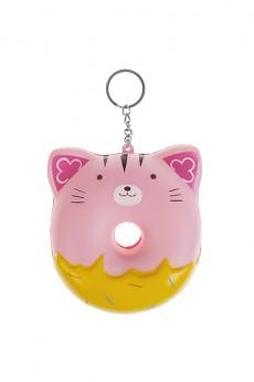 Брелок-сквиш «Розовый котик»